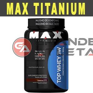 Whey Protein Top 3W 900g - Max Titanium