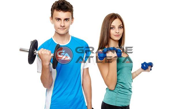 criança adolescente musculação academia idade