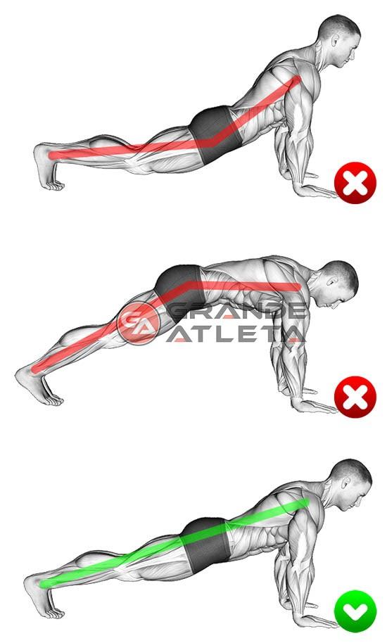 flexão de braço execução e postura