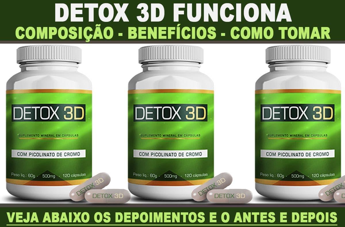 detox 3d composição